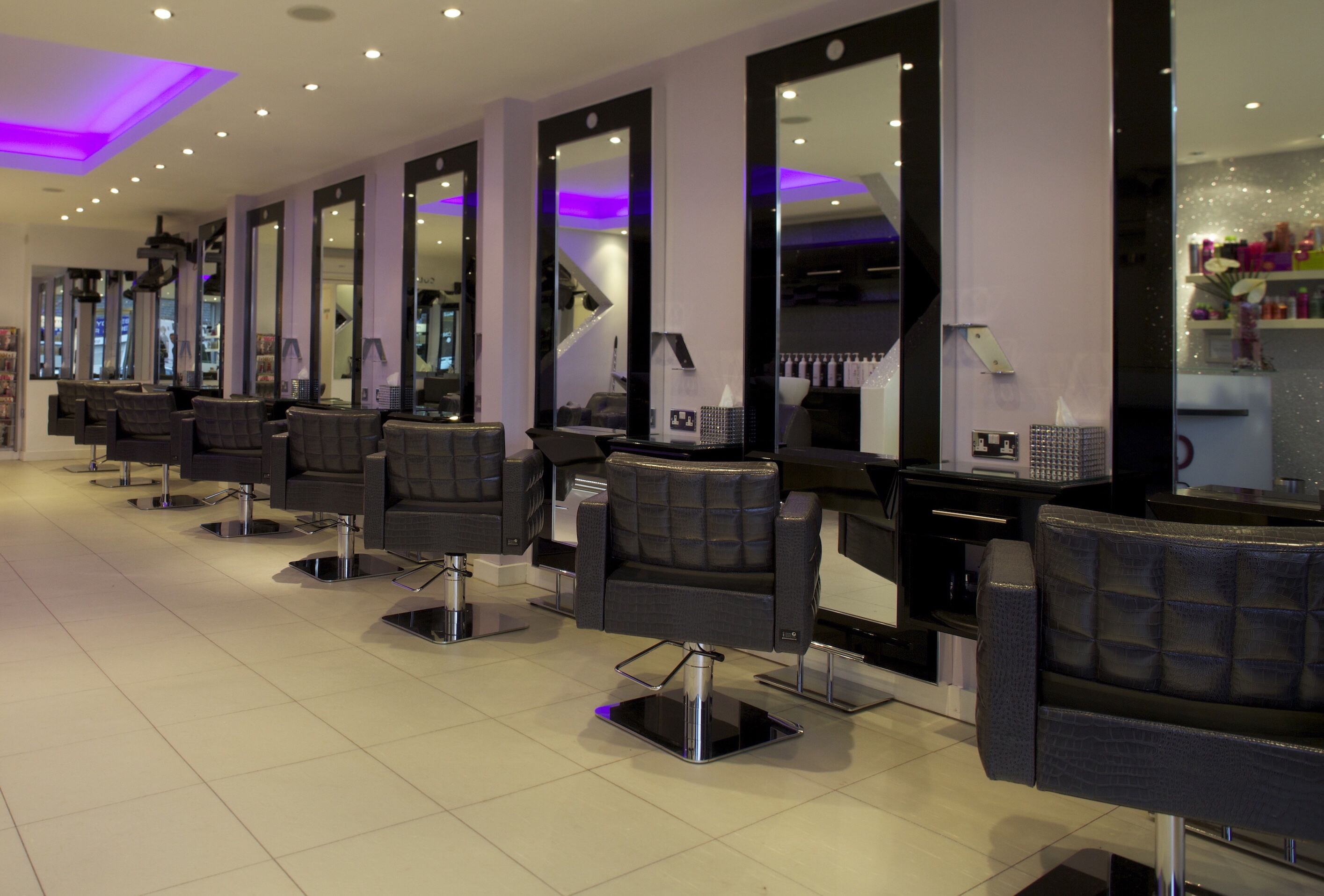spacious contemporary salon