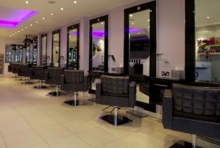 spacious contemporary salon